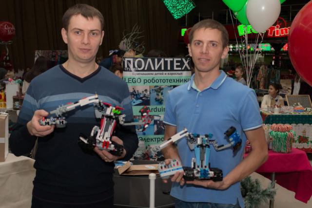 Организаторы битвы роботов (Дмитрий и Тимофей)