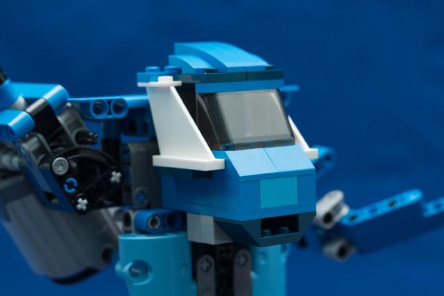 Кабина синего робота