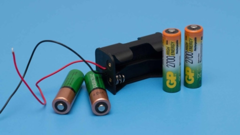 Battery compartment and AA batteries